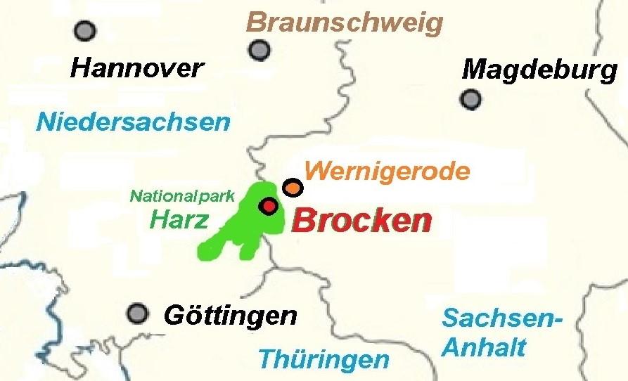 Landkarte Brocken