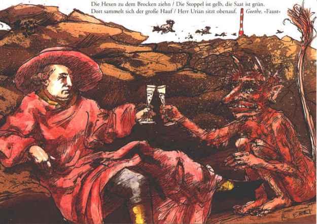 Postkarte Goethe, Walpurgisnacht