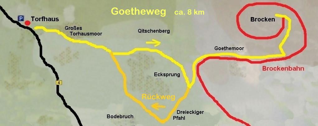 Goetheweg vom Torhaus