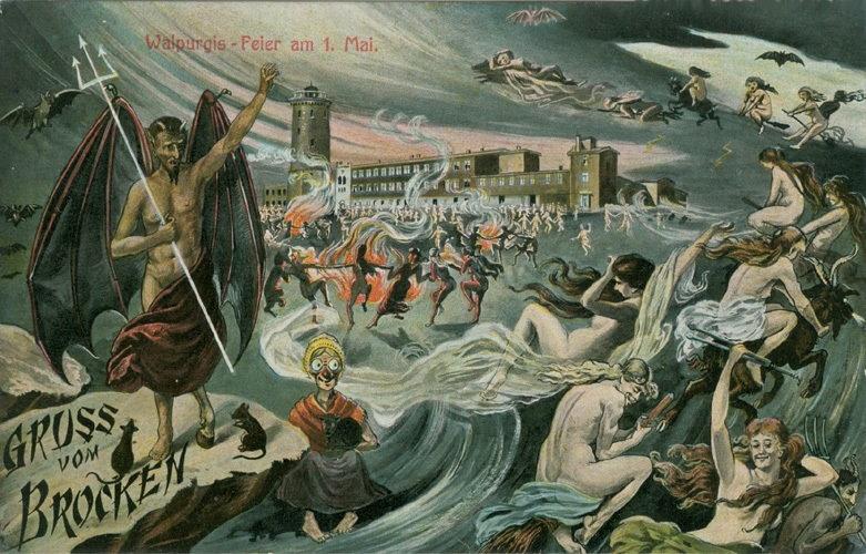 Postkarte Walpurgisnacht