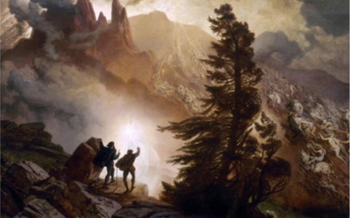 Faust und Mephisto wandern zum Brocken